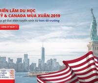 DANH SÁCH HƠN 60 TRƯỜNG THAM DỰ TRIỂN LÃM DU HỌC MỸ - CANADA TOÀN QUỐC MÙA XUÂN 2019